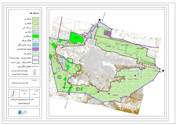 نقشه GIS لاهیجان
