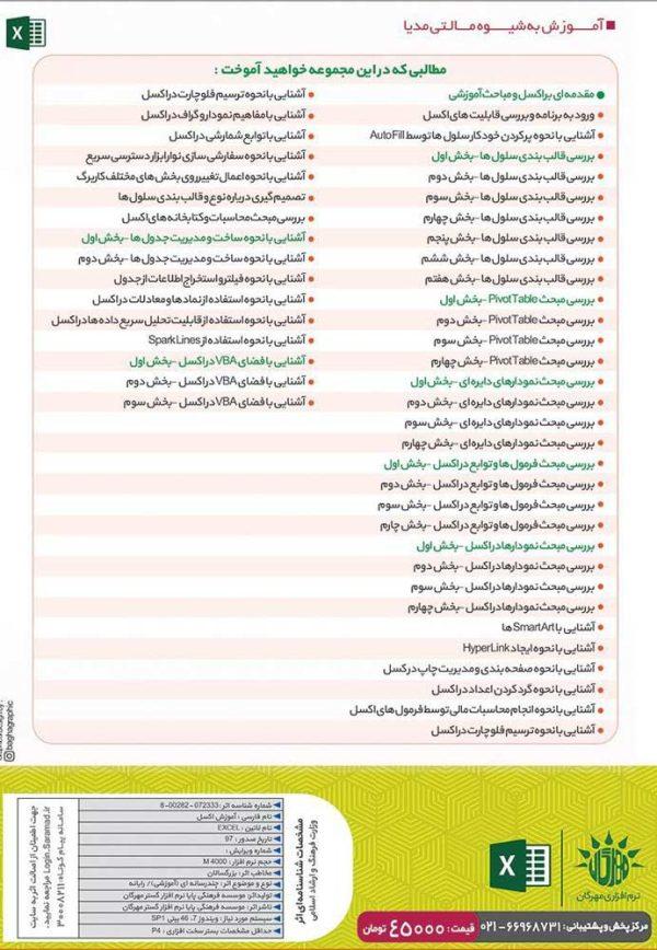 آموزش تصویری Excel 2019
