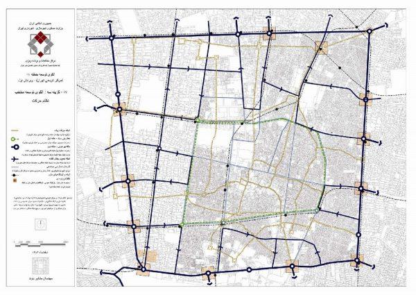 شبکه معابر پیشنهادی منطقه ۱۲