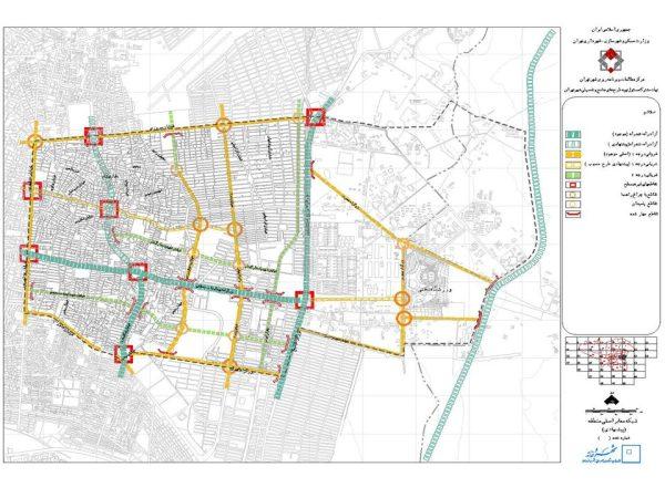 شبکه معابر پیشنهادی منطقه ۱۴