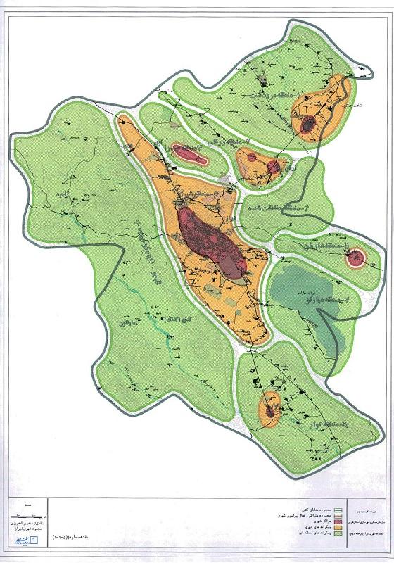 طرح مجموعه شهری شیراز به همراه طرح جامع ناحیه شیراز به صورت کامل
