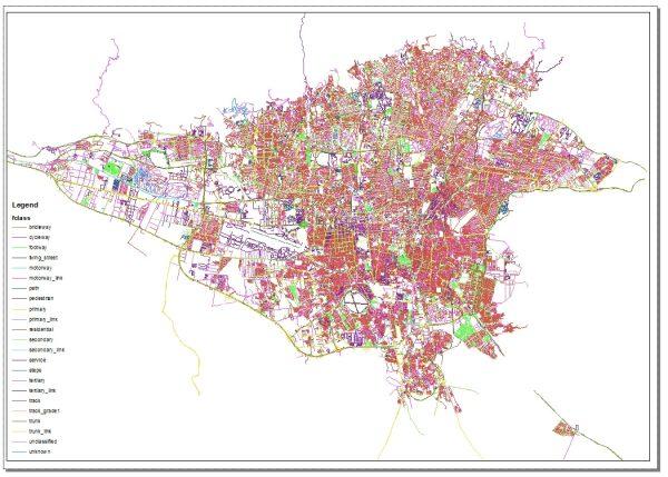 جدیدترین نقشه GIS تهران