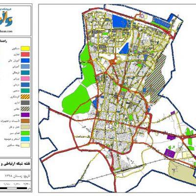 نقشه GIS قزوین