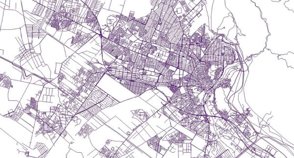 نقشه GIS کرج