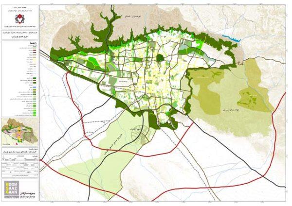 شیپ فایل فضای سبز تهران