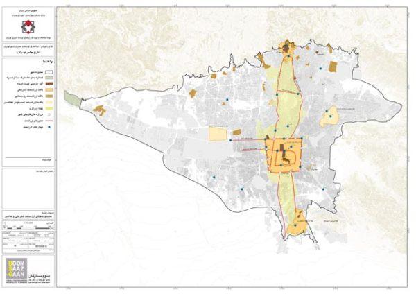 شیپ فایل محدوده تاریخی تهران