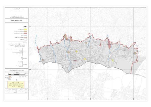 نقشه انواع بافت فرسوده منطقه 1