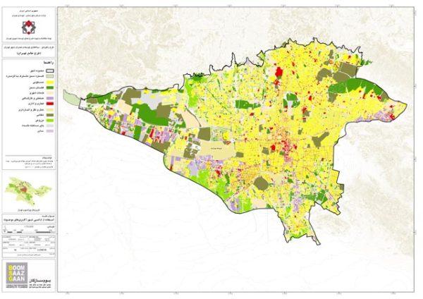 GIS کاربری اراضی تهران