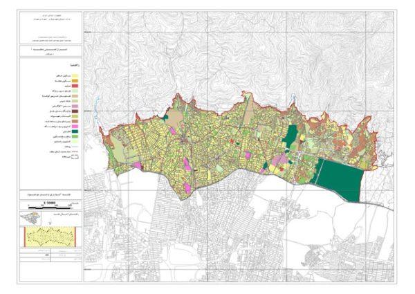 نقشه کاربری اراضی منطقه 1