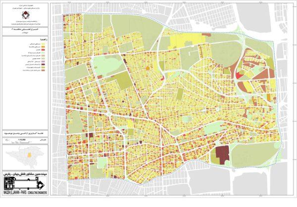 نقشه کاربری اراضی منطقه 6