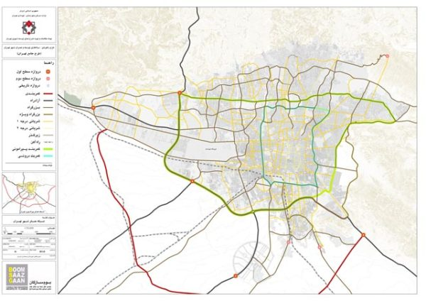 GIS شبکه معابر تهران