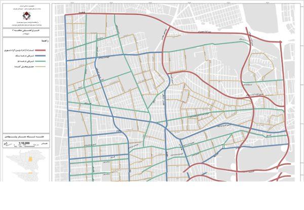 نقشه شبکه معابر منطقه 6