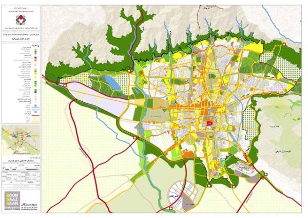GIS ساختار فضایی تهران