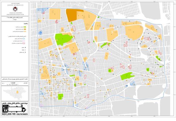 نقشه مراکز خدماتی منطقه 6