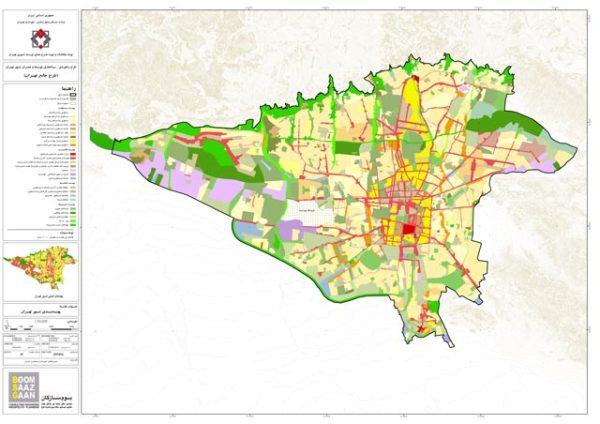 GIS پهنه بندی تهران