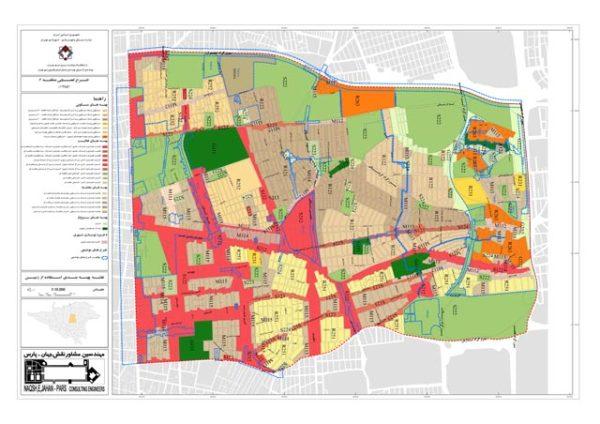 نقشه پهنه بندی منطقه 6