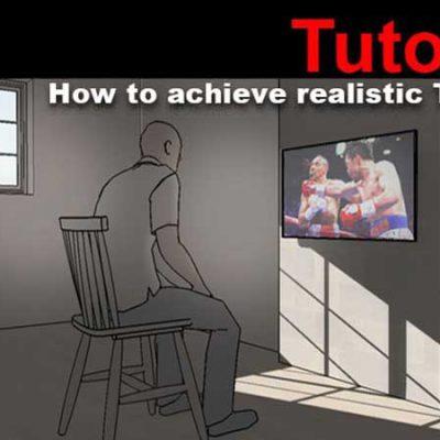 آموزش ایجاد نور تلویزیون در اسکچاپ