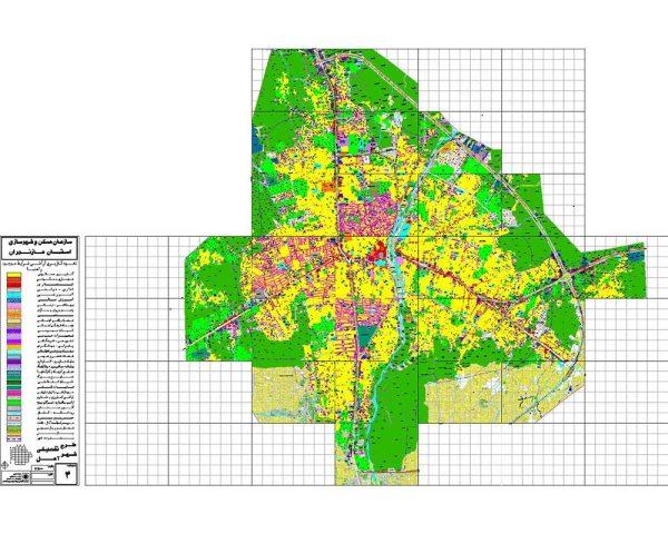 نقشه کد شهر آمل