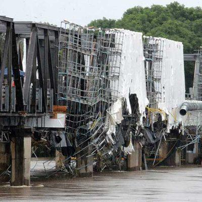 تعمیر خرابیهای ناشی از آبشستگی پلها