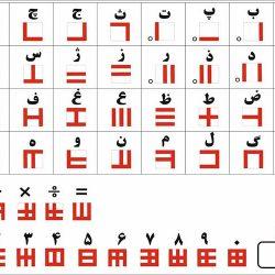 الفبای خطی فارسی