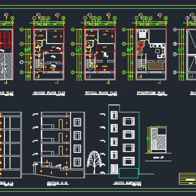 پلان مسکونی 4 طبقه