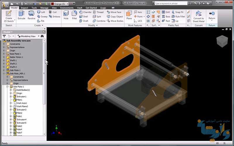 طراحی قطعات با Mechanical Desktop
